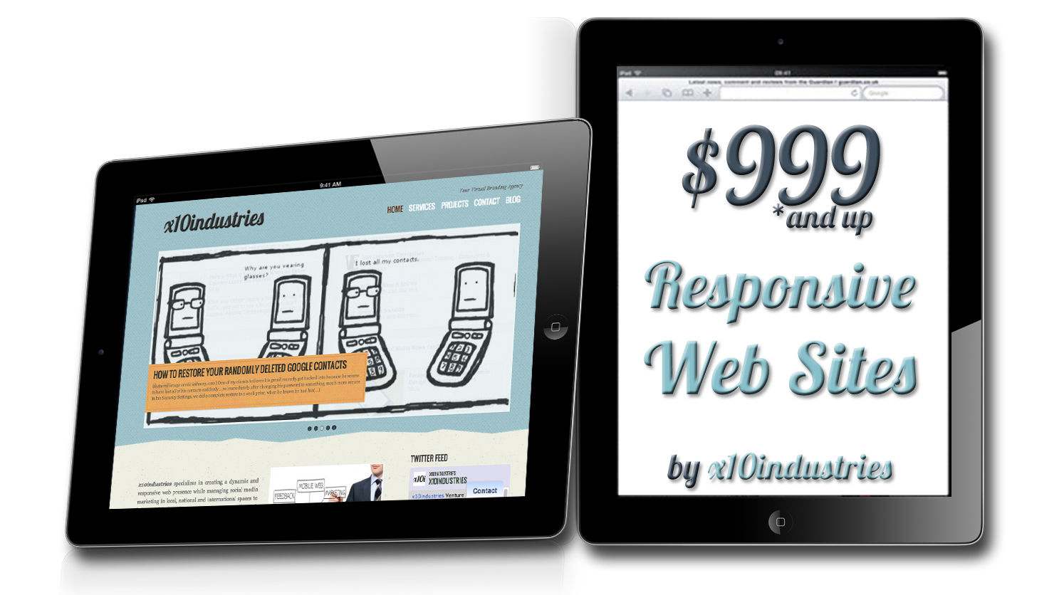 Responsive web design starting at $999