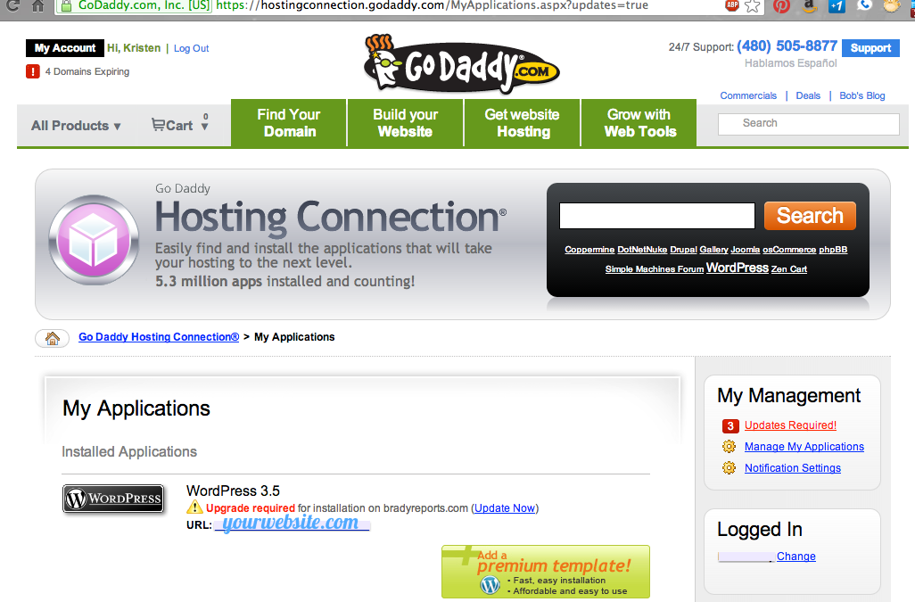 How to back up and upgrade your WordPress site using GoDaddy